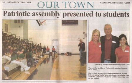 Picture of Article from Mid Valley Town Crier in Weslaco, Texas